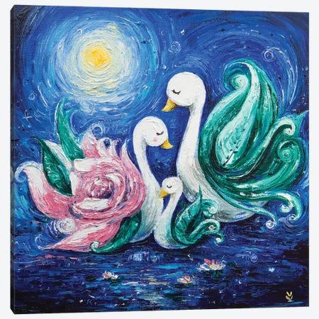 Swans Canvas Print #VLK34} by Vlada Koval Canvas Art