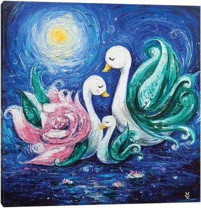 Swans Canvas Art Print