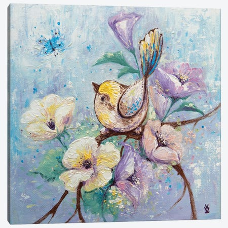 Tender Bird Canvas Print #VLK35} by Vlada Koval Canvas Art