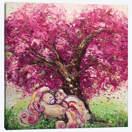 Tree Of Love And Unicorns Canvas Print #VLK39} by Vlada Koval Canvas Art Print