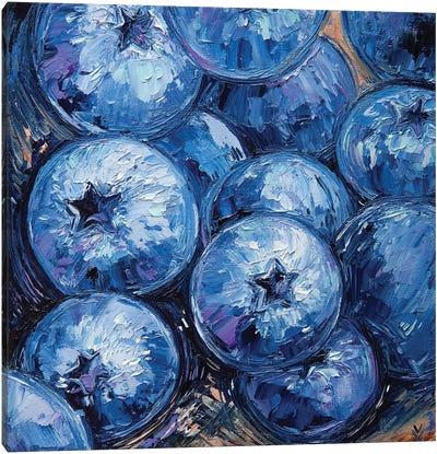Blueberry Canvas Art Print