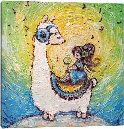 Llama Song Canvas Art Print
