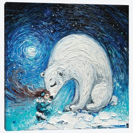 Polar Bear Canvas Print #VLK54} by Vlada Koval Canvas Artwork