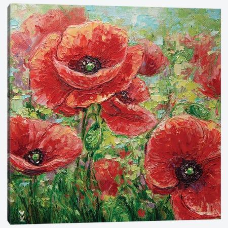 Poppy Field Canvas Print #VLK56} by Vlada Koval Canvas Wall Art