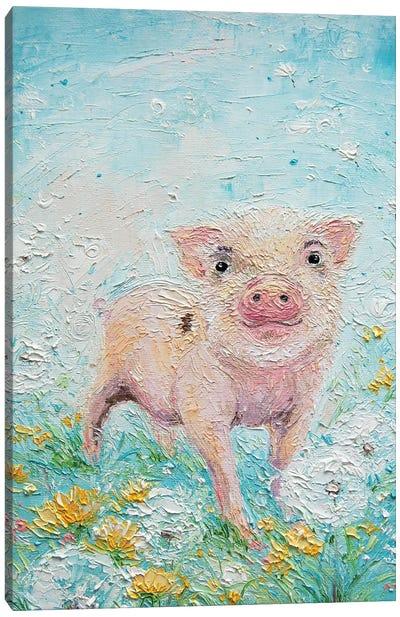 Piglet Canvas Art Print