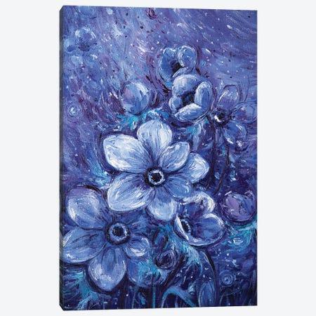 Cosmic Flowers Canvas Print #VLK7} by Vlada Koval Canvas Artwork