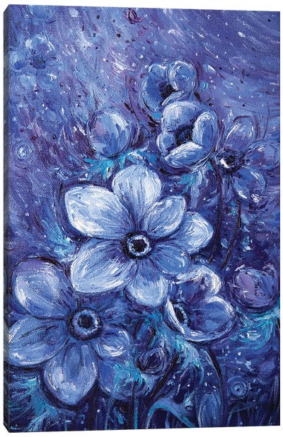 Cosmic Flowers Canvas Art Print