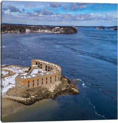 Aerial Fort Canvas Art Print