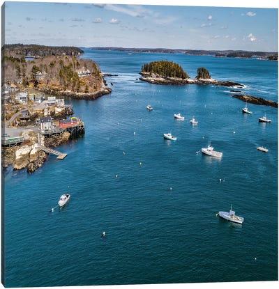 Beautiful Aerial Coast I Canvas Art Print