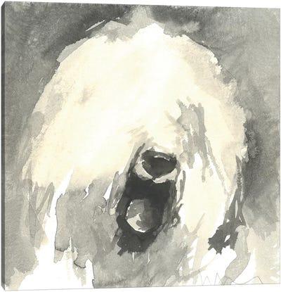 Sepia Modern Dog IX Canvas Art Print