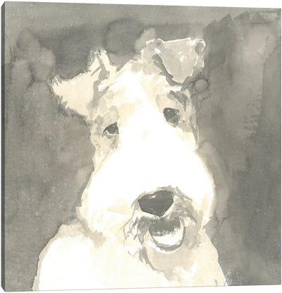 Sepia Modern Dog VI Canvas Art Print