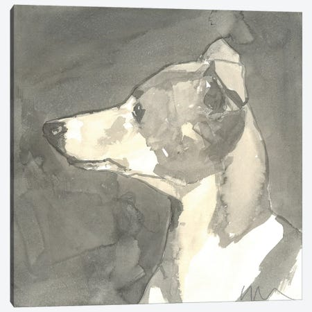 Sepia Modern Dog VII Canvas Print #VMD13} by A Very Modern Dog Canvas Print