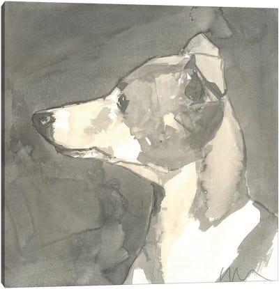 Sepia Modern Dog VII Canvas Art Print
