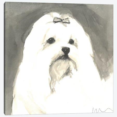 Sepia Modern Dog VIII Canvas Print #VMD14} by A Very Modern Dog Canvas Wall Art