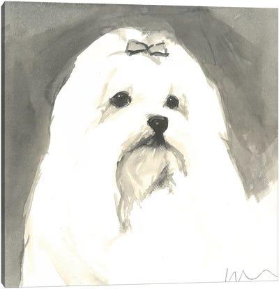Sepia Modern Dog VIII Canvas Art Print