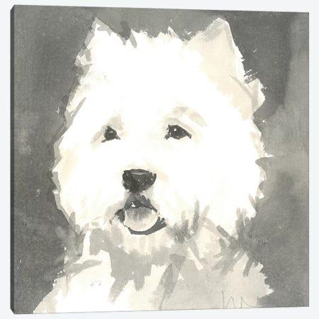 Sepia Modern Dog X Canvas Print #VMD15} by A Very Modern Dog Canvas Wall Art