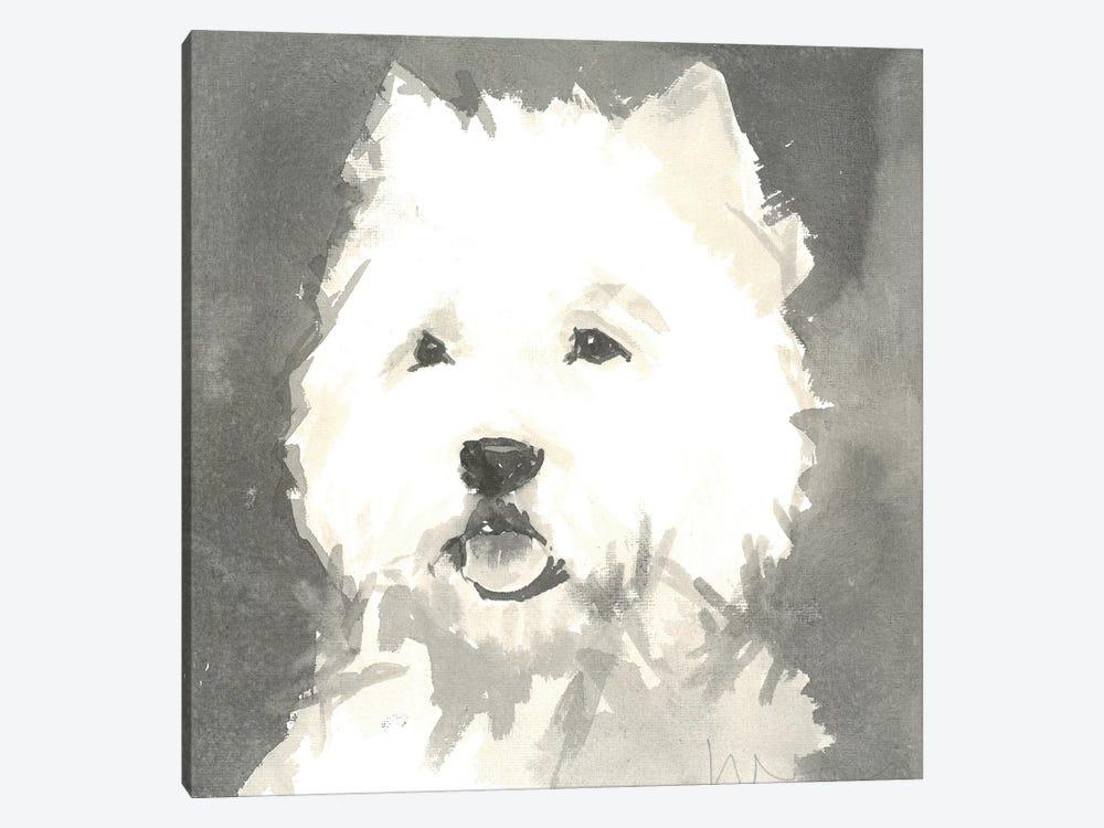 Sepia Modern Dog X by A Very Modern Dog 1-piece Art Print
