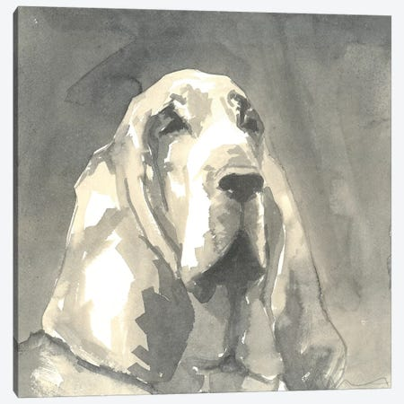 Sepia Modern Dog II Canvas Print #VMD7} by A Very Modern Dog Canvas Art
