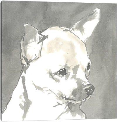 Sepia Modern Dog III Canvas Art Print