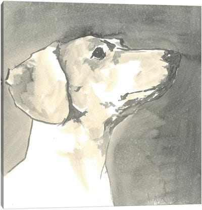 Sepia Modern Dog IV Canvas Art Print