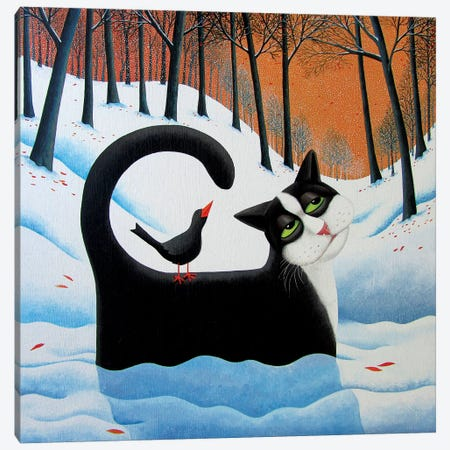 Snow Drifter Canvas Print #VMN128} by Vicky Mount Canvas Artwork