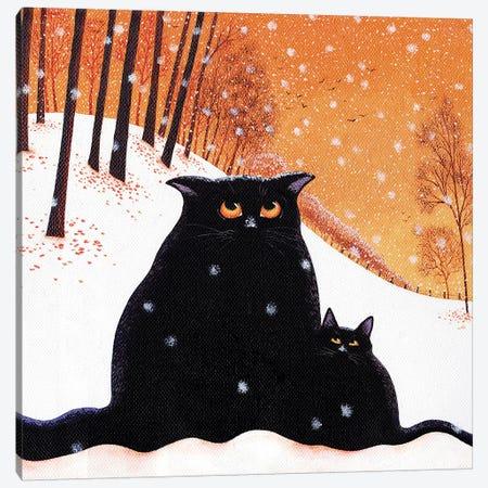 Snowflakes Canvas Print #VMN130} by Vicky Mount Canvas Art Print