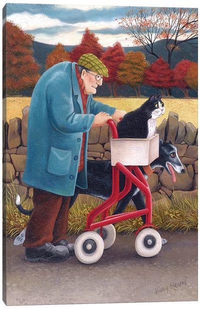 Speedy Cat & Rocket Dog Canvas Art Print