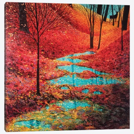 Autumn Reflection Canvas Print #VMN13} by Vicky Mount Canvas Art Print