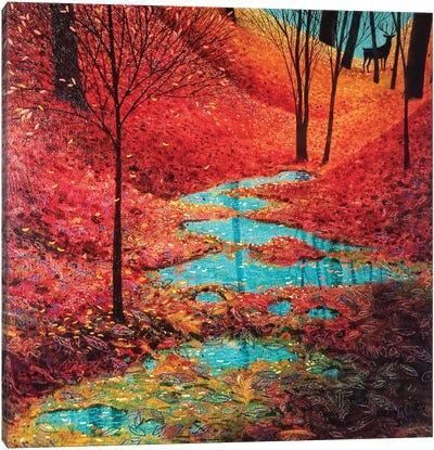 Autumn Reflection Canvas Art Print