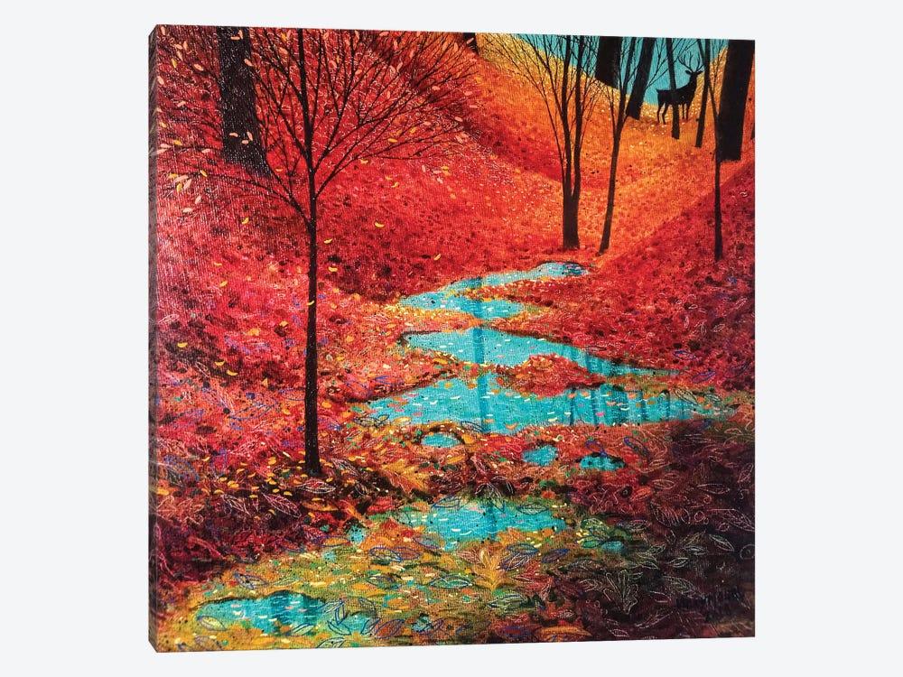 Autumn Reflection by Vicky Mount 1-piece Canvas Print