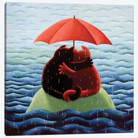 Waiting For Noah Canvas Print #VMN151} by Vicky Mount Canvas Print