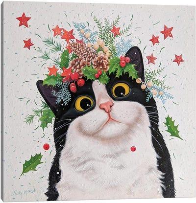 Winter Cat Canvas Art Print