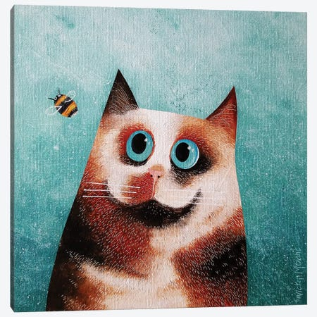 Bebe And Bee Canvas Print #VMN16} by Vicky Mount Canvas Artwork