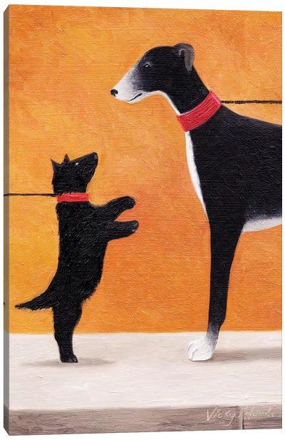 Big Hound Canvas Art Print
