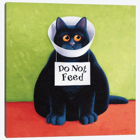 Do Not Feed 3-Piece Canvas #VMN39} by Vicky Mount Canvas Print
