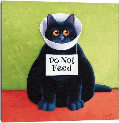Do Not Feed Canvas Art Print
