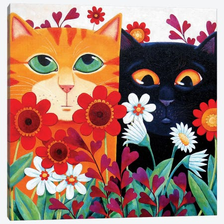 Emily's Cats Canvas Print #VMN45} by Vicky Mount Art Print
