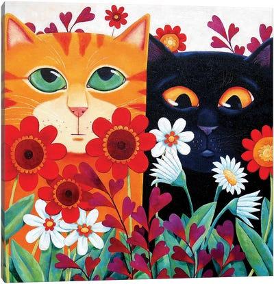 Emily's Cats Canvas Art Print