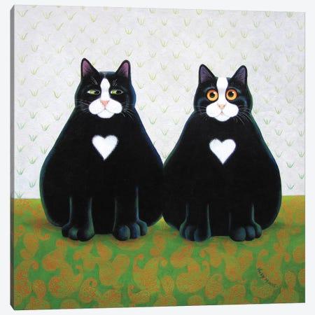 Eric & Shaun Canvas Print #VMN47} by Vicky Mount Art Print