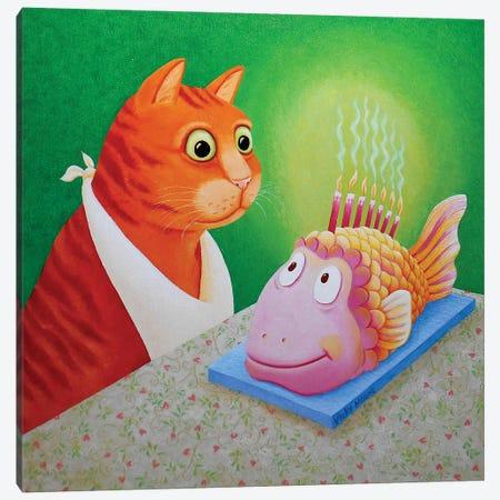 Fishcake Canvas Print #VMN52} by Vicky Mount Canvas Print