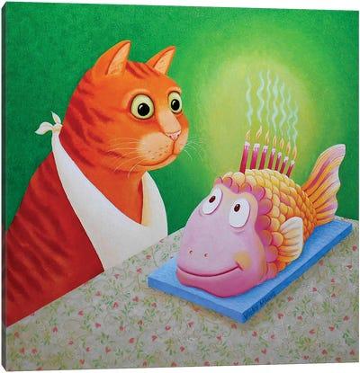 Fishcake Canvas Art Print