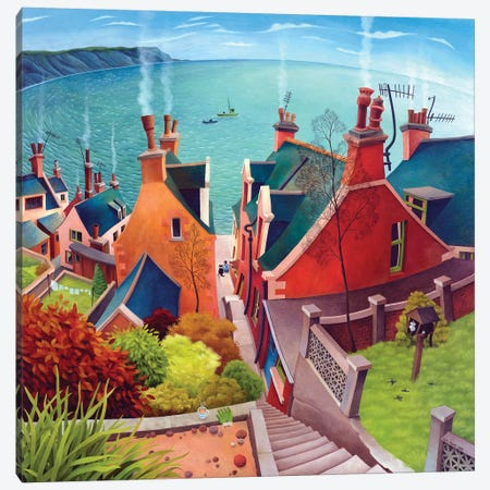 Gardenstown Canvas Print #VMN56} by Vicky Mount Canvas Wall Art