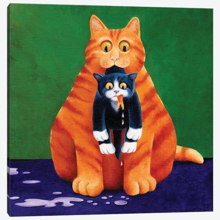 Goldfish Gone Canvas Print #VMN61} by Vicky Mount Canvas Art