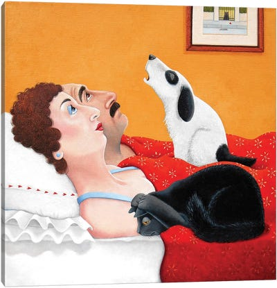 Her Upstairs Canvas Art Print