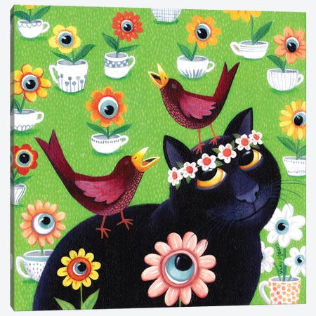 Iris Canvas Print #VMN70} by Vicky Mount Canvas Art Print