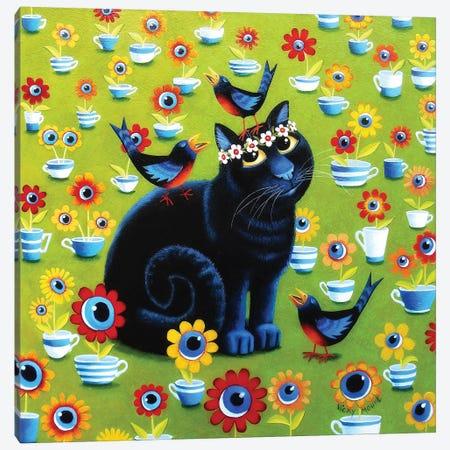 Iris In The Tea Garden Canvas Print #VMN71} by Vicky Mount Art Print