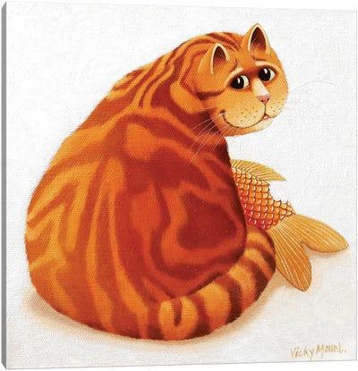 Koi Cat Canvas Art Print