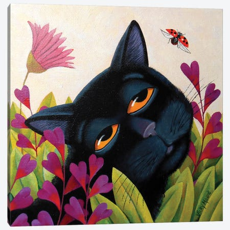 Ladybug Canvas Print #VMN75} by Vicky Mount Canvas Wall Art