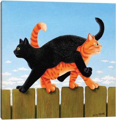 Mornin' Arthur. Mornin' Harry Canvas Art Print