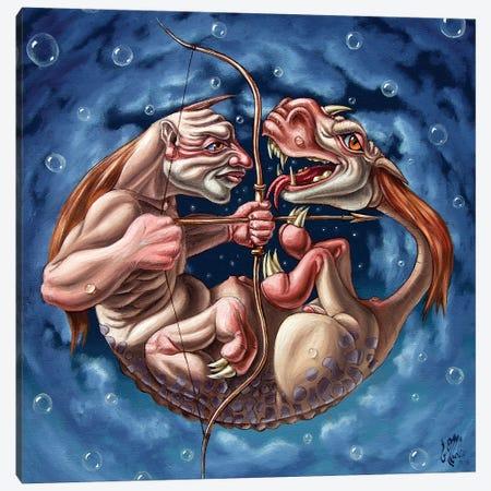 Killing The Dragon In Itself Canvas Print #VMO101} by Victor Molev Art Print